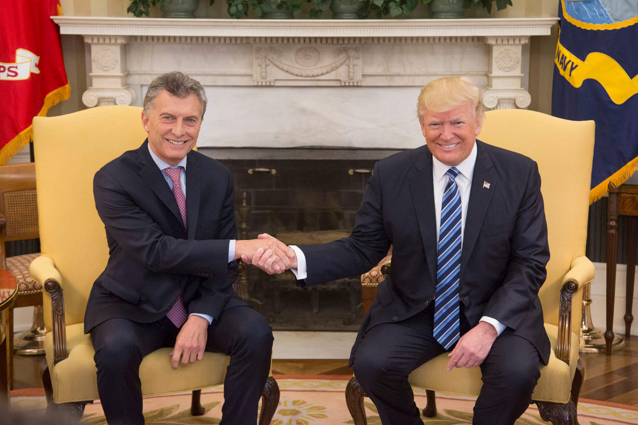 Macri speaks to Trump and receives a 'positive' message for the Argentinian government