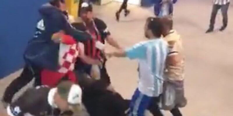 Argentine fans brutally attack Croatian supporters after match on Thursday