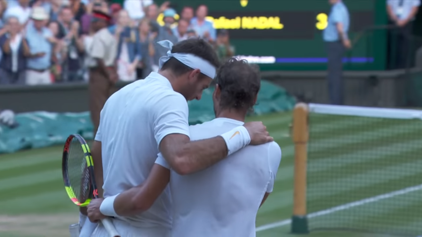 """Rafa is Rafa, you know."" Del Potro slides out of Wimbledon after an epic battle with Nadal."