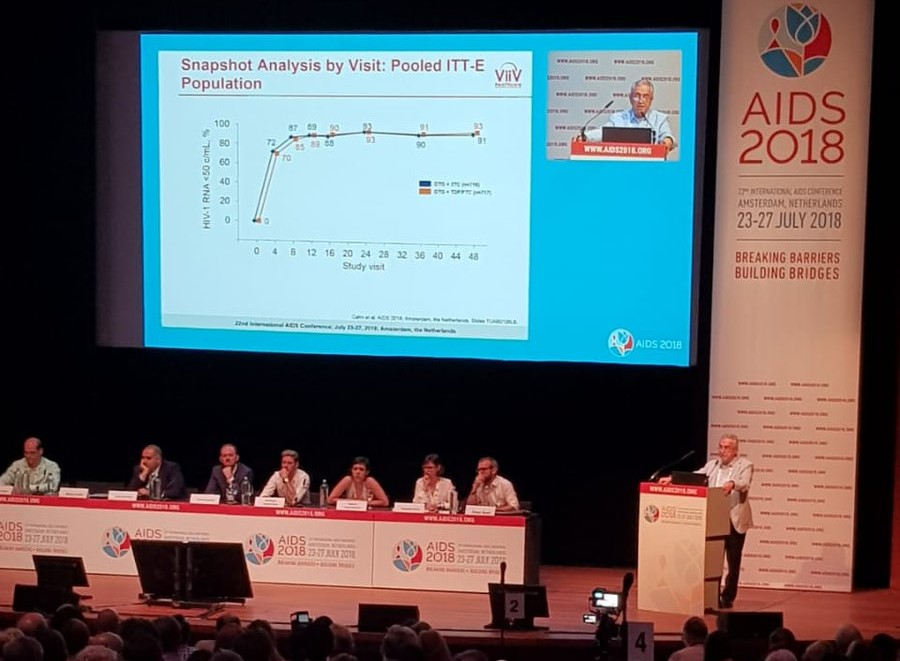 Argentine scientist presents new highly-effective two-drug HIV treatment at international AIDS conference