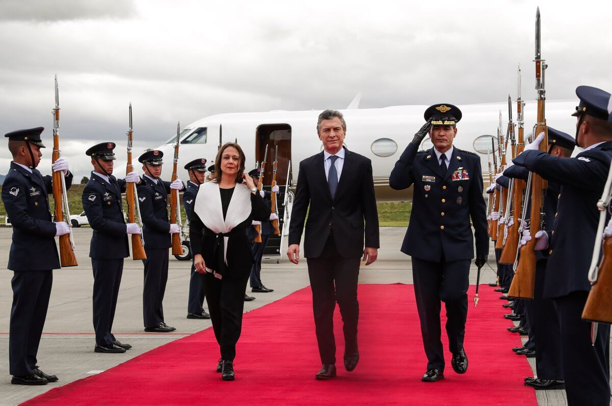 Macri visits Colombia attends Ivan Duque's inauguration